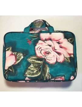 Sonia Kashuk Weekender Cosmetic Case Organizer Travel Bag Floral Green by Sonia Kashuk