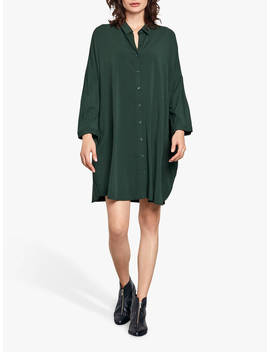 Hush Bloomsbury Shirt Dress, Dark Forest by Hush