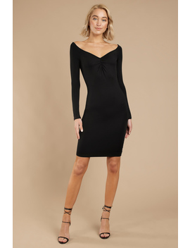 Griselda Black Bodycon Dress by Tobi