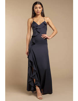 Holding On For Tonight Navy Maxi Dress by Tobi