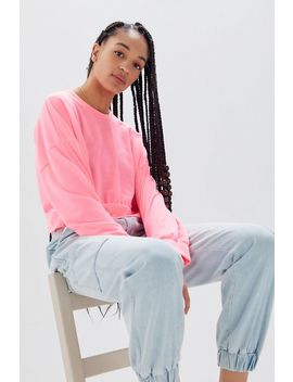 Uo Neon Cropped Long Sleeve Tee by Urban Outfitters