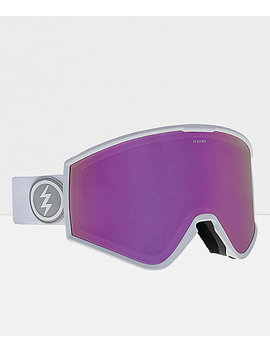 Electric Marcus Kleveland White Brose & Pink Chrome Snowboard Goggles by Electric
