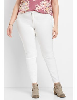 Plus Size Denim Flex™ White Color Jegging by Maurices