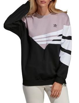 Colorblock Fleece Sweatshirt by Adidas