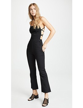 The Tie Back Hustler Ankle Fray Jumpsuit by Mother