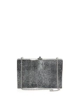 Ridged Rectangle Stingray Clutch by Judith Leiber Couture
