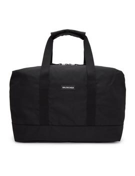 Black Medium Explorer Duffle Bag by Balenciaga