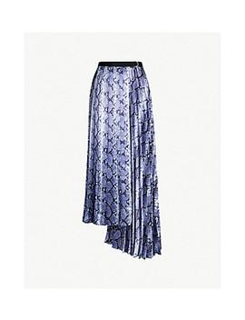 Snake Print Satin Maxi Skirt by Topshop