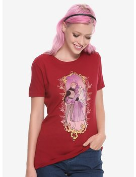 Disney Sleeping Beauty Aurora &Amp; Phillip Art Nouveau Girls T Shirt by Hot Topic