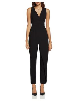 Sleeveless Faux Wrap Jumpsuit by Bcb Generation