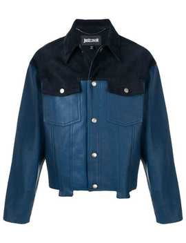 Contrast Biker Jacket by Just Cavalli