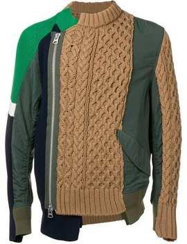 Panelled Sweatshirt by Sacai