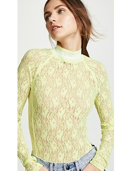 Stretch Lace Long Sleeve Bodysuit by Alexanderwang.T