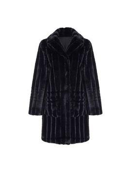 Yumi   Black Faux Fur Patch Pocket Coat by Yumi