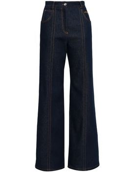 High Rise Wide Leg Jeans by Msgm