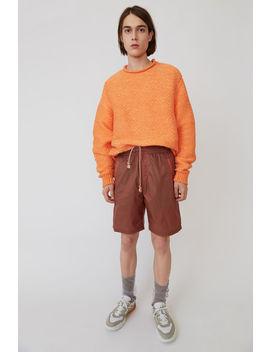 Nylon Shorts Ingwer Orange by Acne Studios