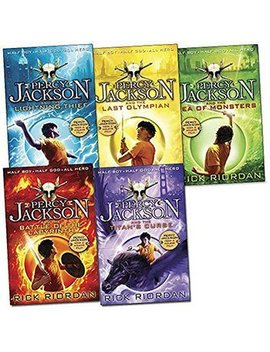 Percy Jackson Book Collection   5 Books by The Works