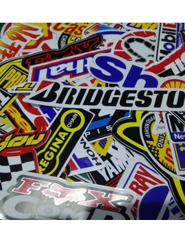 Lot Of 60 Pcs Random Racing Stickers Decals Nascar Sticker Vintage Helmet Decal by Ebay Seller