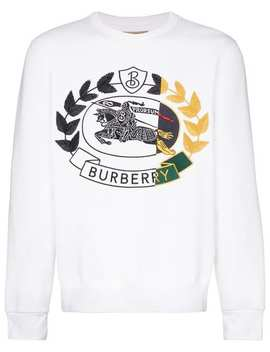 Logo Embroidered Jumper by Burberry