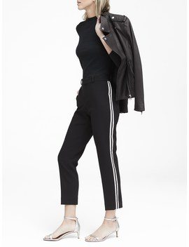 Avery Straight Fit Tuxedo Ankle Pant by Banana Repbulic