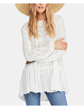 Kiss Kiss Embroidered Lace Tunic by Free People