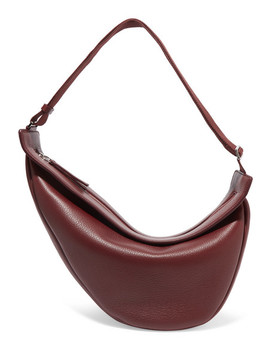 Slouchy Banana Large Textured Leather Shoulder Bag by The Row