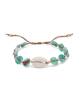 Turquoise, Shell And Gold Plated Bracelet by Chan Luu