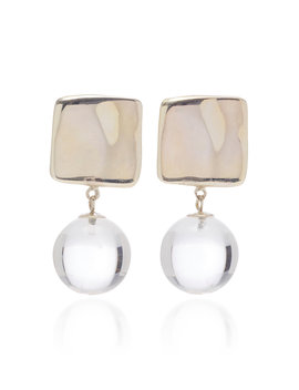 Luca Sterling Silver And Quartz Earrings by Agmes