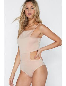 Take A Piece Of My Heart Cut Out Bodysuit by Nasty Gal