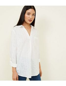 White Stripe Overhead Shirt by New Look