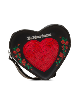 Sequin Heart Leather Purse by Dr. Martens