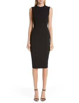 Back Zip Body Con Dress by Victoria Beckham