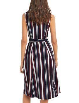 Multi Stripe Sleeveless Midi Dress by Oasis