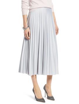 Metallic Pleat Midi Skirt by Halogen®