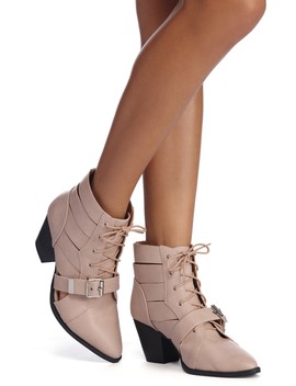 The Buckle Is Real Booties by Windsor