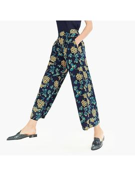 Wide Leg Cropped Floral Pant by J.Crew