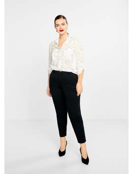 Chest Pocket Cotton Blouse by Mango