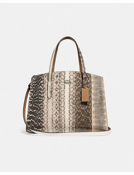Charlie Carryall In Ombre Snakeskin by Coach
