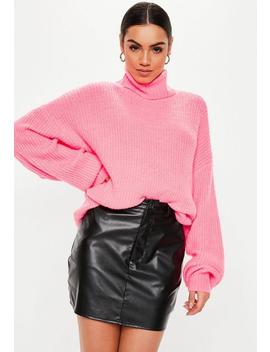 Black Faux Leather 4 Pocket Mini Skirt by Missguided