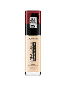 Infallible 24 Hr Fresh Wear Foundation 400 Pearl   0.17 Fl Oz by L'oreal Paris