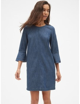 Denim Bell Sleeve Shift Dress by Gap