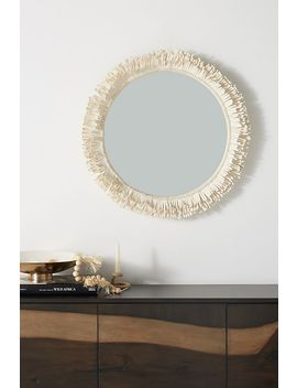 Fringed Mirror by Anthropologie