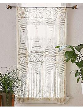 "Flber Macrame Curtain Macrame Wall Hanging Macramé Handwoven Boho Wedding Backdrop Kitchen Curtains,50""X 75"" by Flber"