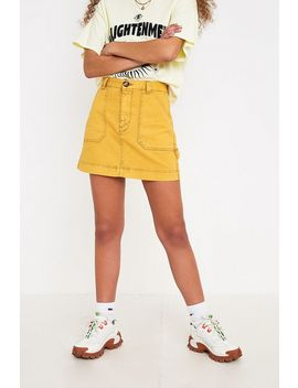 Bdg Sun Yellow Carpenter Mini Skirt by Bdg