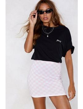All On Checkerboard Skirt by Nasty Gal
