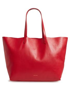 Oversize Lambskin Leather Tote by Mansur Gavriel