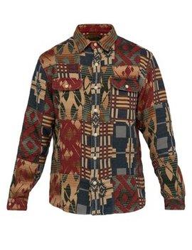 Patchwork Brushed Cotton Jacquard Shirt Jacket by Rrl