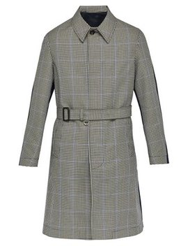 Contrast Back Houndstooth Twill Overcoat by Alexander Mc Queen