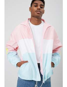 Colorblock Mesh Windbreaker by Forever 21