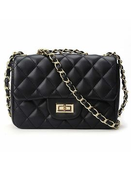Women's Quilted Pu Leather Cross by Generic